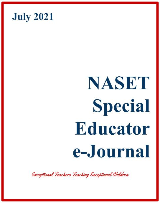 National Association of Special Education Teachers: July ...